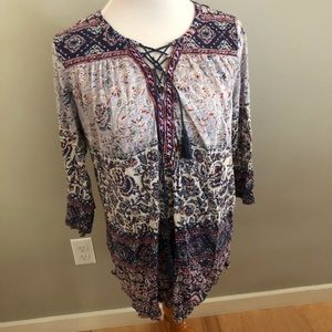 Lucky Brand Blouse With Tassels